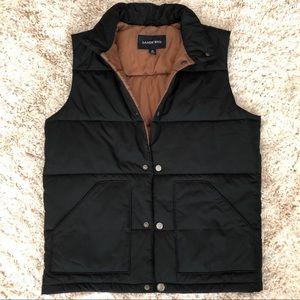 Lands End Black Men's Puffer Vest